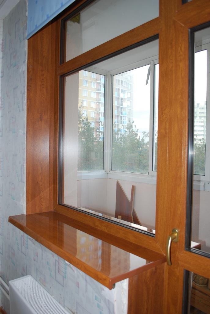 Остекление окон и балконов цвет рам..